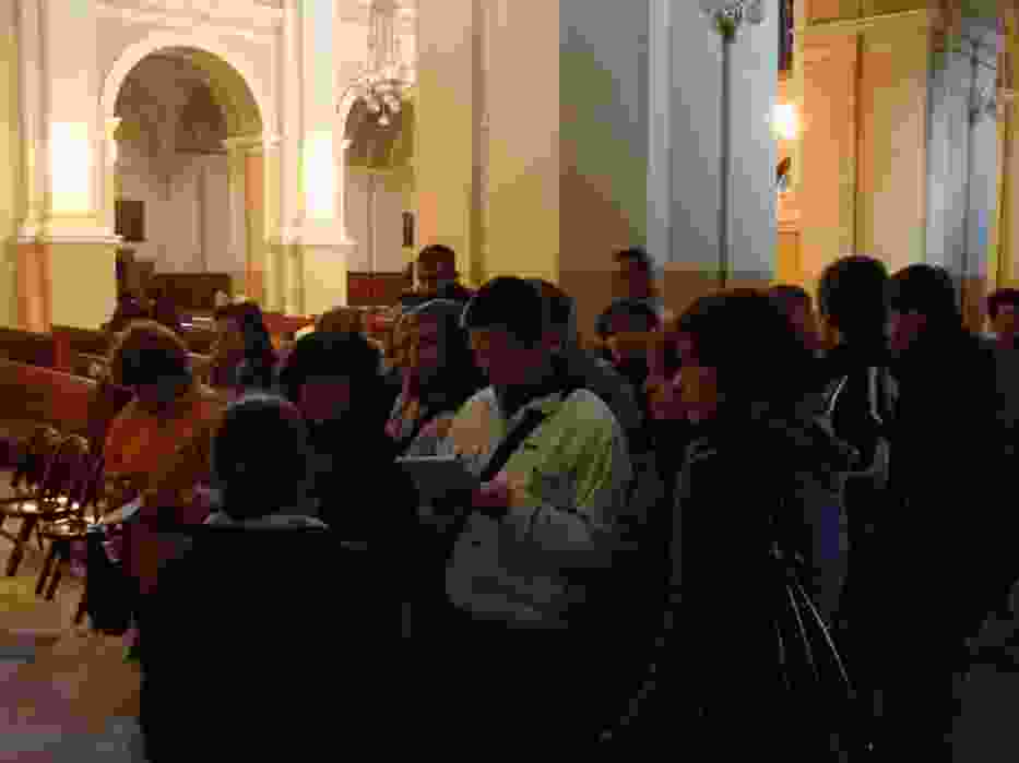 Zeszłoroczna edycja kursu - uczestnicy podczas zwiedzania kościoła Św