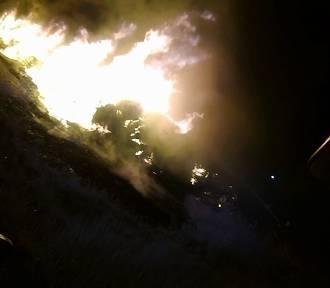 Wielki pożar składowiska odpadów w centrum Kuślina [ NOWE ZDJĘCIA]