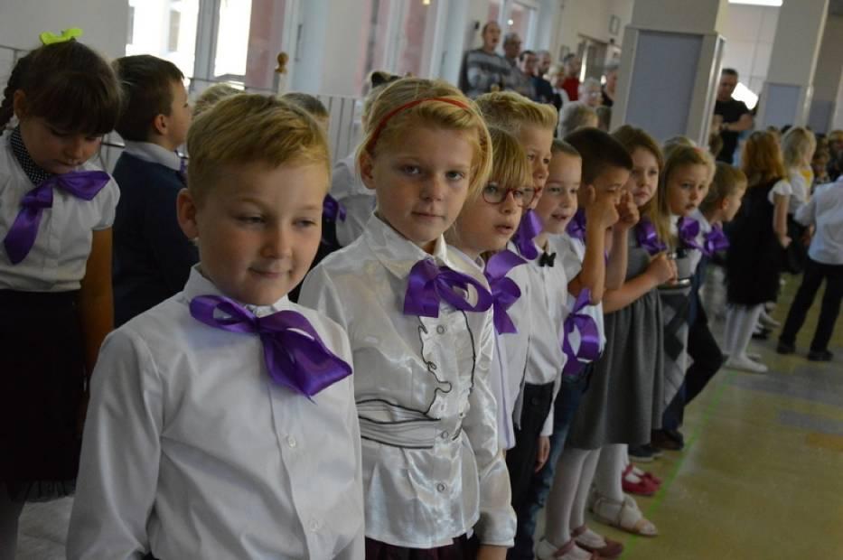 Ślubowanie klas pierwszych w SP nr 5  w Kartuzach 2017