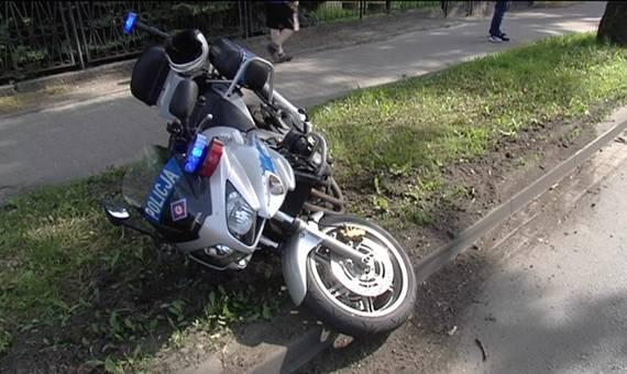 Kierujący policyjnym motocyklem potrącił rowerzystkę