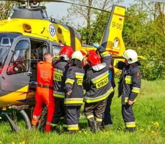 16-latek wszedł na słup energetyczny i porażony prądem spadł z 11 metrów