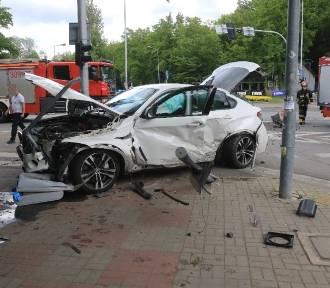 Wypadek przy parku Południowym we Wrocławiu. 4 osoby ranne! [ZDJĘCIA]