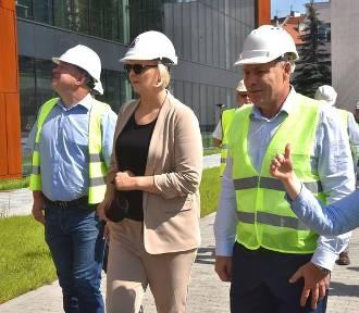 Otylia Jędrzejczak na budowie nowej Astorii w Bydgoszczy [zdjęcia]