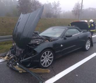 Wypadek sportowego Jaguara. Ranne dzieci (ZDJĘCIA)
