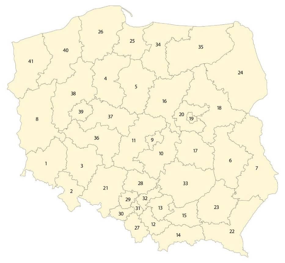 Podział na okręgi w wyborach do Sejmu