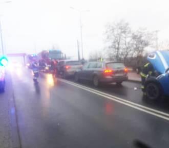 Zderzenie trzech samochodów na Gdańskiej [zdjęcia]