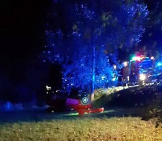 Wypadek drogowy pod Łowiczem. Do szpitali trafiło troje młodych ludzi