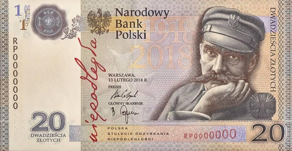 Wchodzi nowy banknot o nominale 20 zł. Jesteście ciekawi jak wygląda?