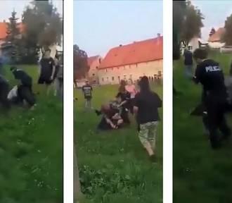 Ojciec i syn pobili policjantów. Byli bardzo brutalni. ZDJĘCIA, FILM