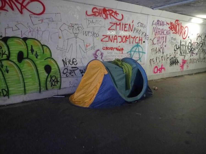 Test namiotu w trudnych warunkach  :)