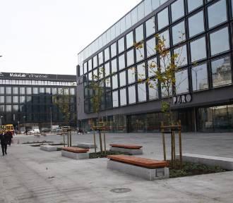 Zobaczcie plac przed hotelem przy Ogrodowej