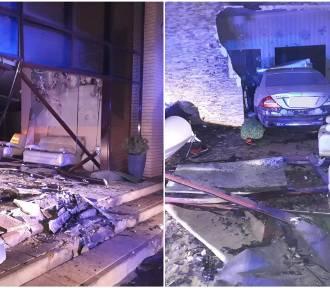 Pijany 22-latek wjechał samochodem do domu weselnego w Aleksandrowie Kujawskim [zdjęcia]