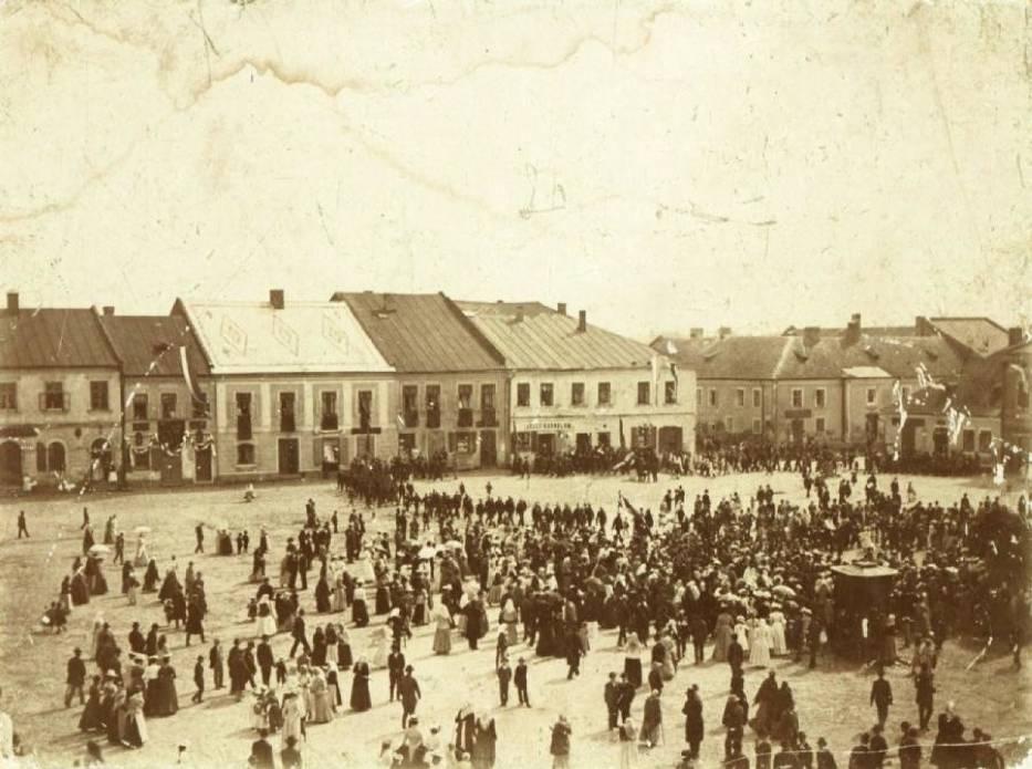 Zdjęcie Rynku z początku wieku