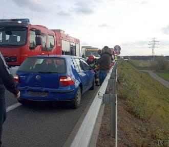 Wypadek na obwodnicy Opola. Zderzenie trzech samochodów
