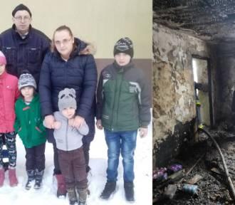 Ruszyła zbiórka dla 7-osobowej rodziny ze Skrzynna. W pożarze domu stracili wszystko