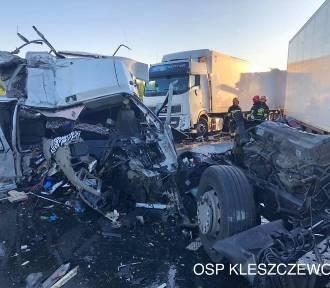 Wypadek tirów na S5 - droga do Poznania zablokowana