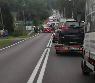 Poważny wypadek z udziałem motocyklisty na DK 52