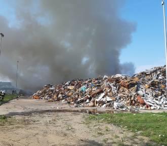 Wielki pożar składowiska odpadów w Kędzierzynie-Koźlu