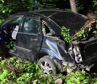 Wypadek na trasie Kwidzyn - Sztum. Nie żyje 27-latka [ZDJĘCIA]
