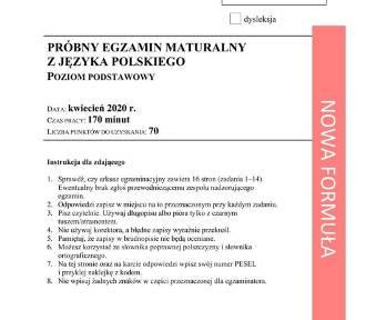 Matura próbna 2020 z polskiego. Jakie tematy na egzaminie?