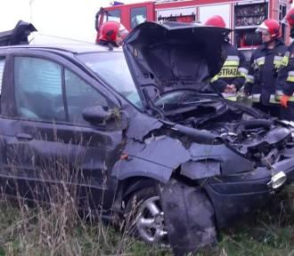 Wypadek w okolicach Smardzowa. Dwie osoby poszkodowane (ZDJĘCIA)