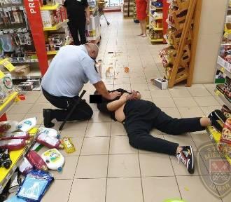 Rzucił się z nożem na strażnika miejskiego w Lubaniu! [ZDJĘCIA]
