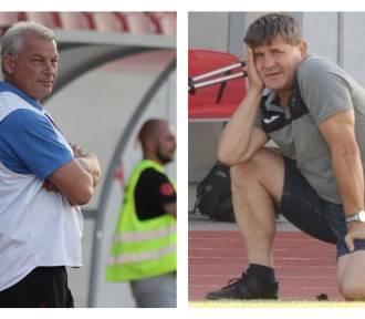 Trenerzy Mirosław Kasiński i Grzegorz Jeromin po meczu 2. kolejki 4. ligi Włocłavia Włocławek