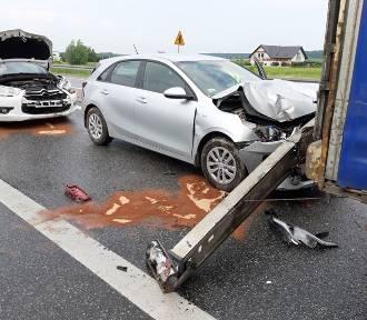 Wypadek w Sufczynie, jedna osoba ranna, utrudnienia w ruchu - zobacz zdjęcia