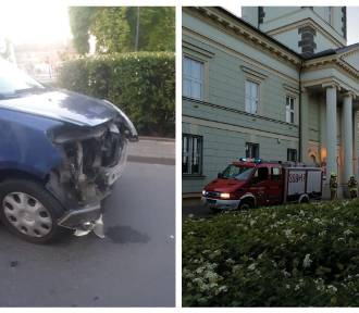 Zderzenie renaulta z volkswagenem w Brześciu Kujawskim [zdjęcia]