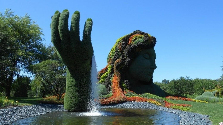 Piękna zielona rzeźba