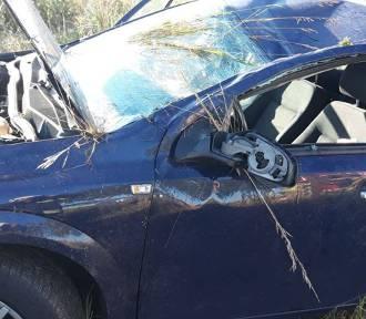 Wypadek w gminie Gołuchów. Jedna osoba trafiła do szpitala
