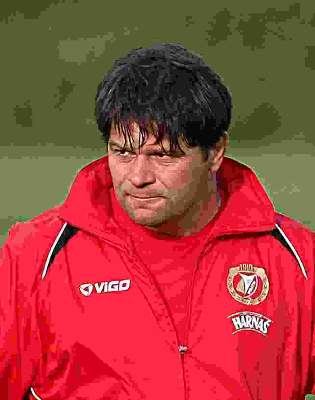 Trener Widzewa Radosław Mroczkowski