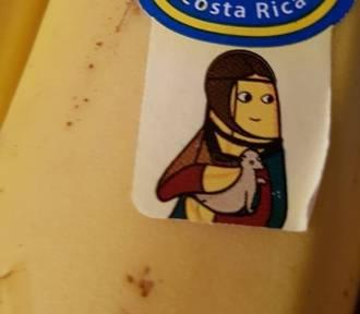 """""""Dama z gronostajem"""" reklamuje... banany"""
