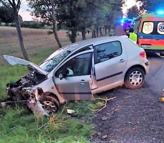 Gm. Malechowo - zderzenie dwóch samochodów ZDJĘCIA
