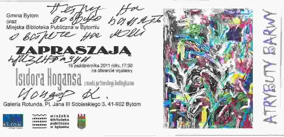 Atrybuty barwy to wystawa prac malarstwa olejnego Rosjanina, Isidora Kogansa urodzonego w 1936 roku w Sankt Petersburgu