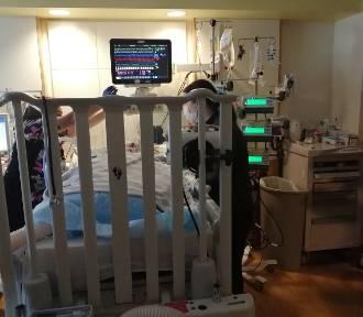 Marcelek Kubala już po zabiegu przeszczepu wątroby w Chicago