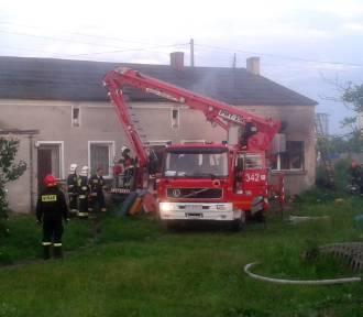 Pożar i wybuch w domu na Majkowie FOTO, WIDEO
