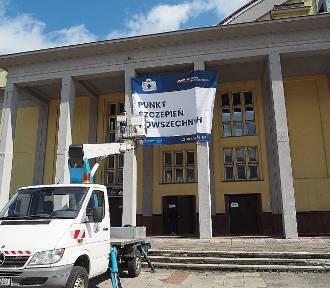 Punkt szczepień w Hali Sportowej MOSiR gotowy. Jak jest w środku? ZDJĘCIA