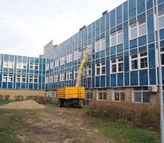 Blok operacyjny leszczyńskiego szpitala  w remoncie