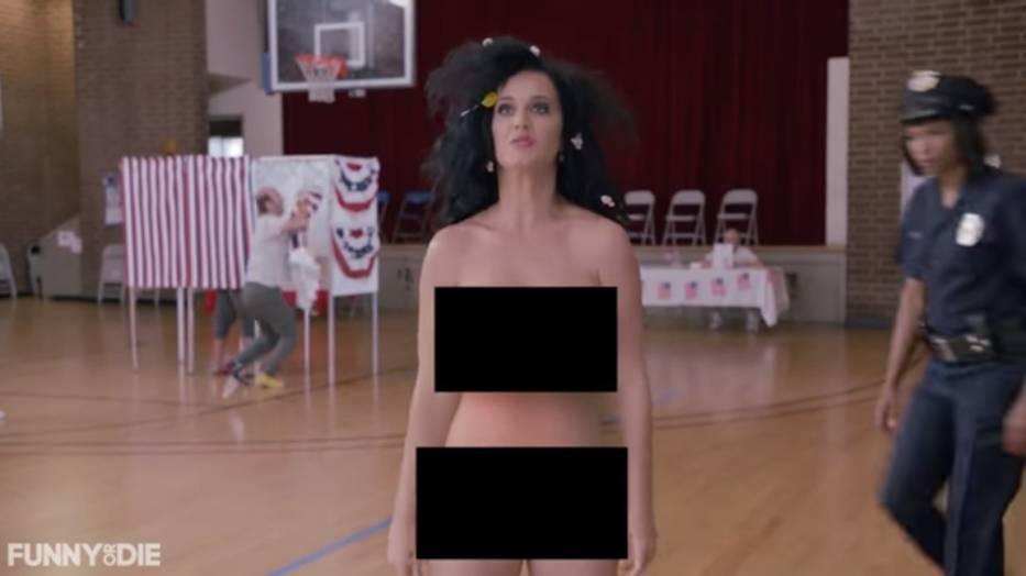 """Katy Perry nago w lokalu wyborczym! Wszystko w """"słusznej"""" sprawie [WIDEO +18]"""