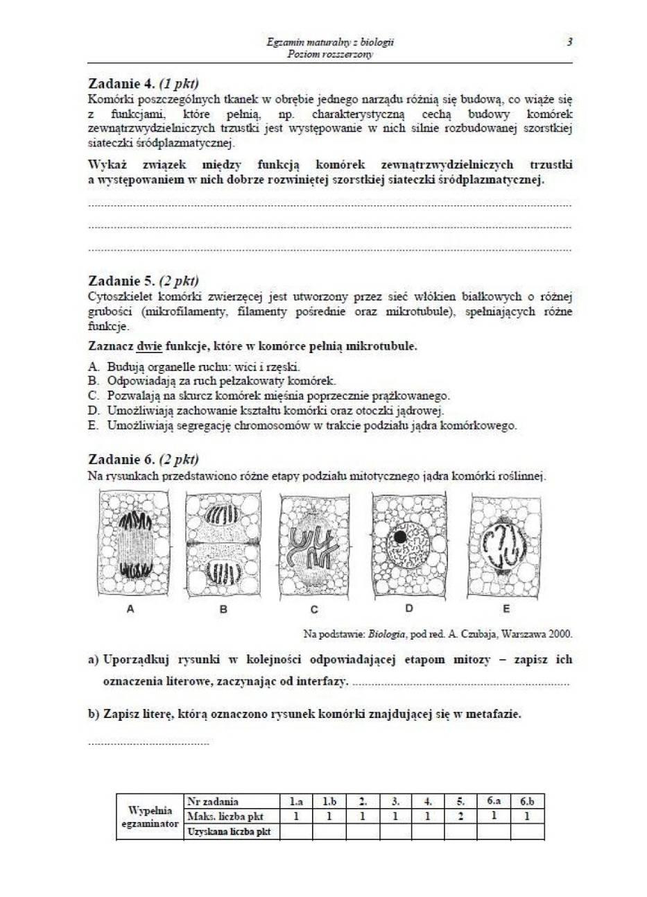 Matura 2014 Biologia - ODPOWIEDZI I ARKUSZE - poziom rozszerzony
