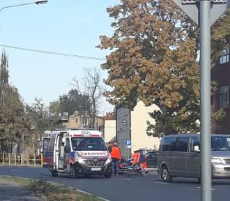 Rowerzysta potrącony na ulicy Andrzeja w Inowrocławiu [zdjęcia]
