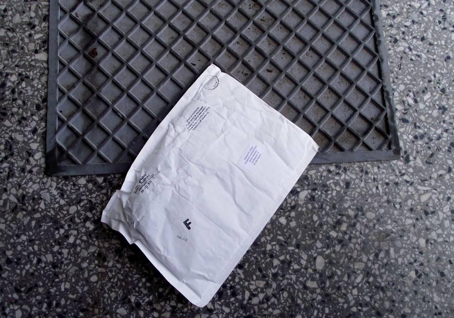 List na wycieraczce