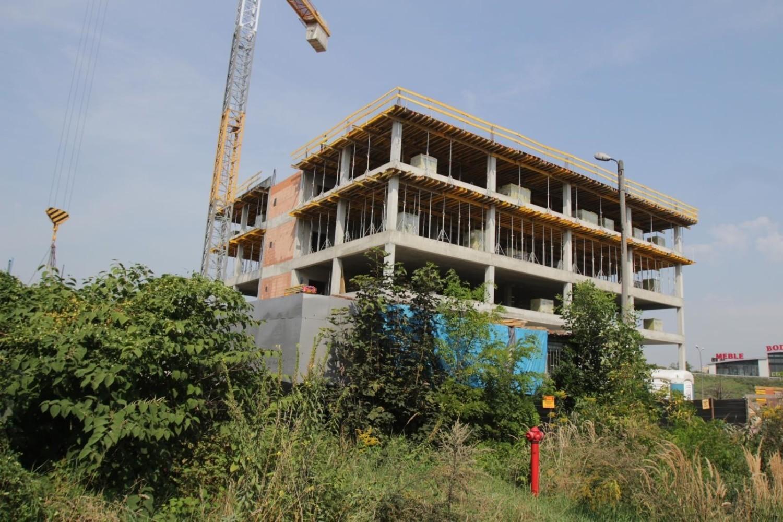 Budowa biurowca DTŚ Office Center w Chorzowie