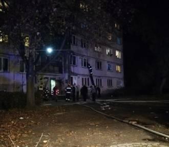 Pożar na ul. Wienieckiej we Włocławku [zdjęcia]