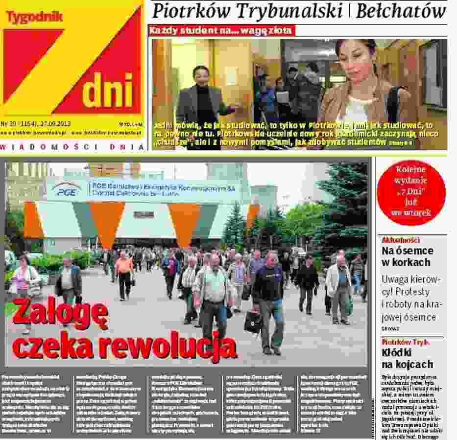 """Tygodnik """"7 Dni"""" w Piotrkowie i Bełchatowie"""