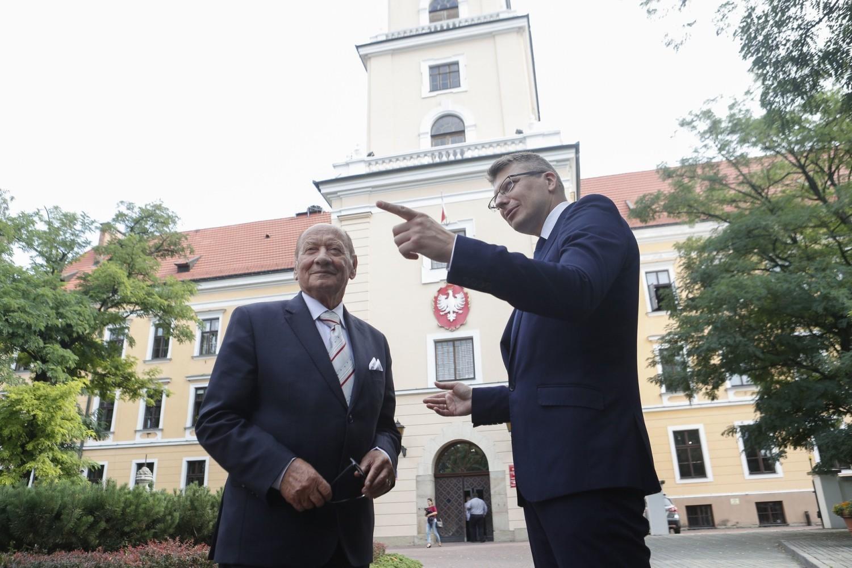 Zamek Lubomirskich w Rzeszowie wizyta Marcina Warchoła i Tadeusza Ferenca