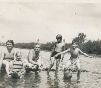 Tak kiedyś odpoczywało się i plażowało nad rzekami