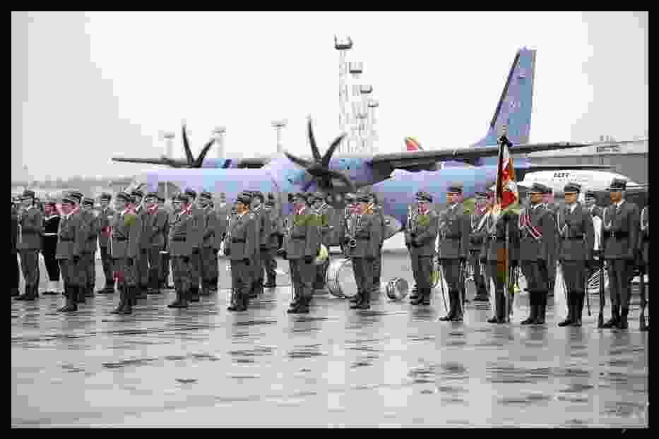 Ceremonia na Lotnisku Wojskowym Fot