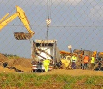 Tragiczny wypadek pod Wrocławiem. Zginął operator ładowarki. Był pierwszy dzień w pracy